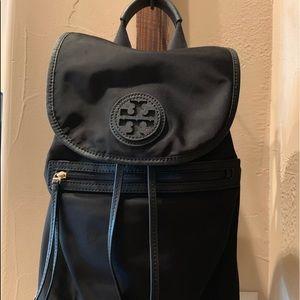 Tory Burch | Nylon/leather trim backpack | black